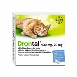 BAYER DRONTAL 230mg + 20mg dla KOTA op.2 tab