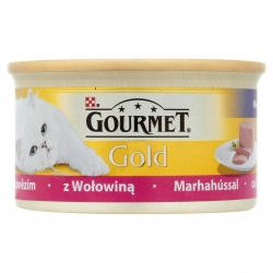 GOURMET GOLD Mousse with Beef Mus z Wołowiną 12x85g
